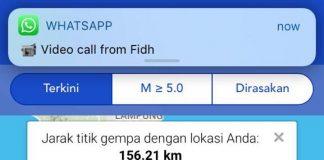 Melalui mobile aplikasi android BMKG