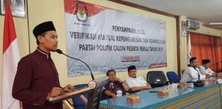 15 Parpol di Kota Tangerang Lolos Verifikasi