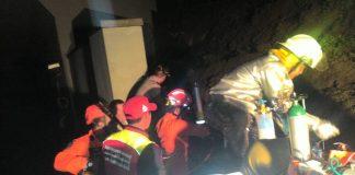 Proses evakuasi underpass perimeter selatan