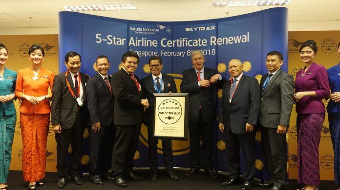 Garuda indonesia Raih 5 Bintang Skytrax