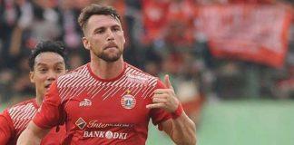 Marko Simic mencetak gol pertama dalam laga Persija Jakarta vs Bali United di babak Final Piala Presiden 2018