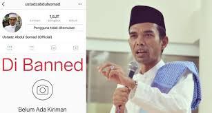 Akun Instagram UAS di Banned