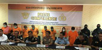 Press Conference Polres bandara dan bea cukai soekarno hatta