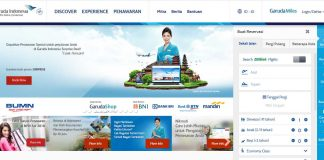 Website Garuda Indonesia